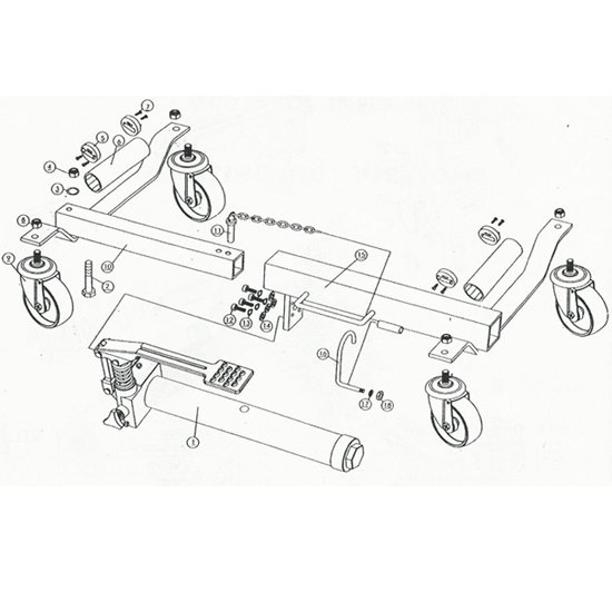 Hydraulic Vehicle Positioning Jack 9""