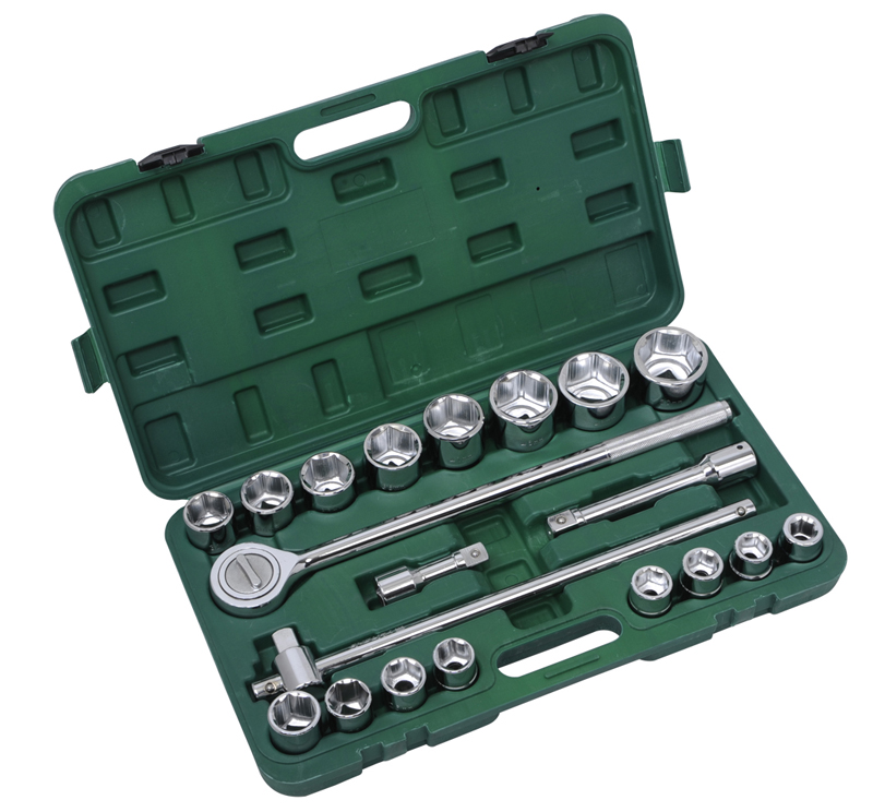 "3/4"" 21Pcs Heavy Duty Socket Wrench Sets (19mm-50mm)"