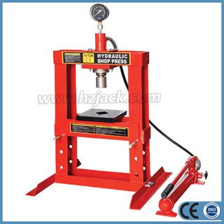 10 Ton Benchtop Hydraulic Shop Press with Gauge