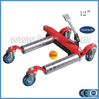 Vehicle Positioning Jack with steel roller
