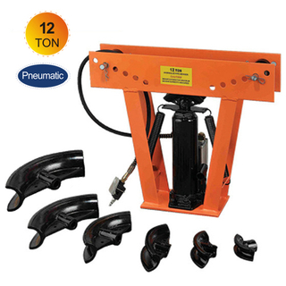 Pneumatic/hydraulic 12 ton pipe bender