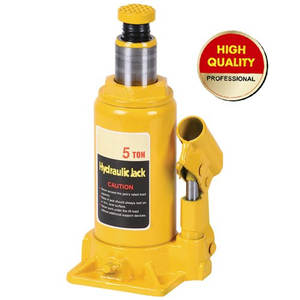 Yellow hydraulic bottle jack 5ton