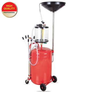 Collecting oil machine with glass tank