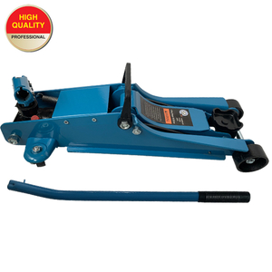 Low profile 2.5 ton floor jack with rotating handle